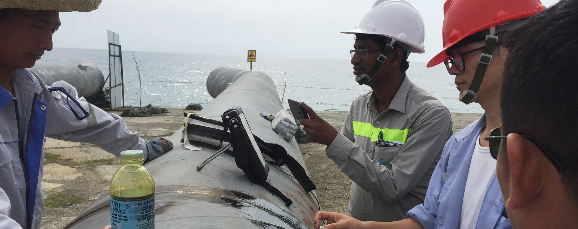 海底管线登陆安装