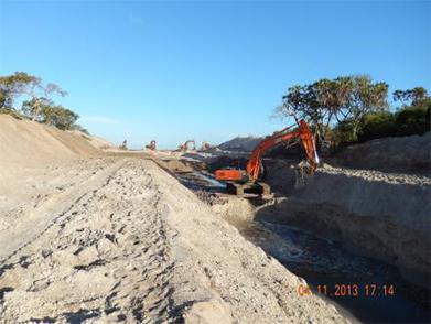 预存管沟开挖