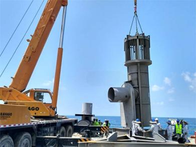 菲律宾海上取排水管线项目(2017-2018年--江苏电建)