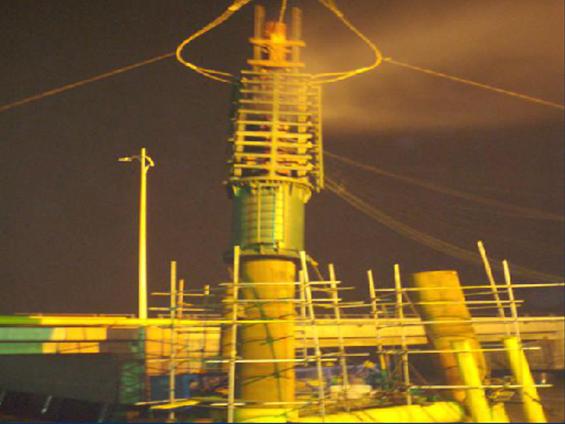 中石油冀东南堡油田1号、2号人工岛海管导管架制作、运输、现场安装等项目(2008年)
