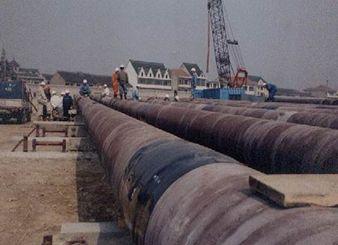 中石化杭州湾海底管线安装项目(2003年)
