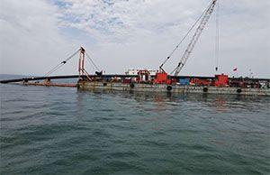 曹妃甸工业区入海排污口工程项目正在进行中