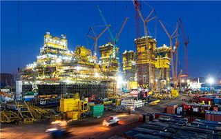 全球首个!海油工程完成万吨级半潜式储油平台船体建造